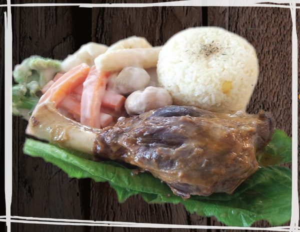 """<span style=""""color: #F6931B;"""">Broadshires Braised Lamb Shank</span>"""