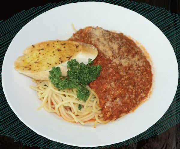 "<span style=""color: #F6931B;"">Spaghetti Bolognese</span>"