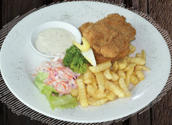 """<span style=""""color: #F6931B;"""">Traditional Fish & Chips</span>"""