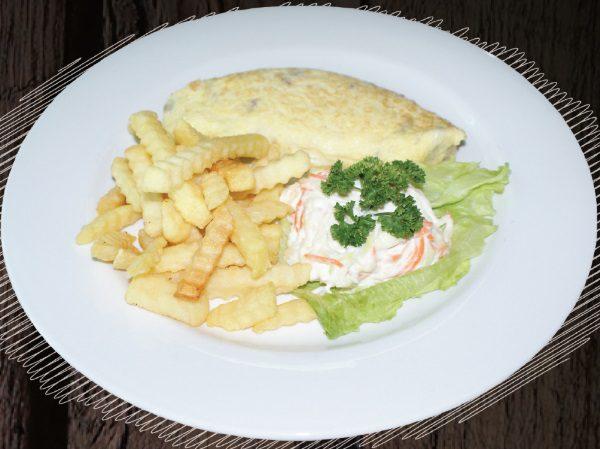 "<span style=""color: #F6931B;"">Veggie Omelette</span>"