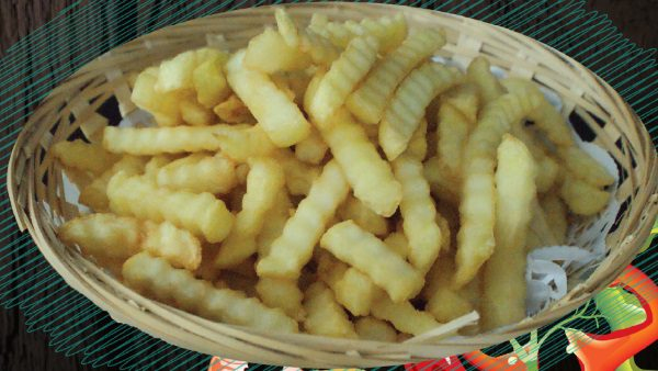 """<span style=""""color: #F6931B;"""">French Fries</span>"""