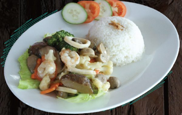"""<span style=""""color: #F6931B;"""">Seafood Mix Vegetables</span>"""