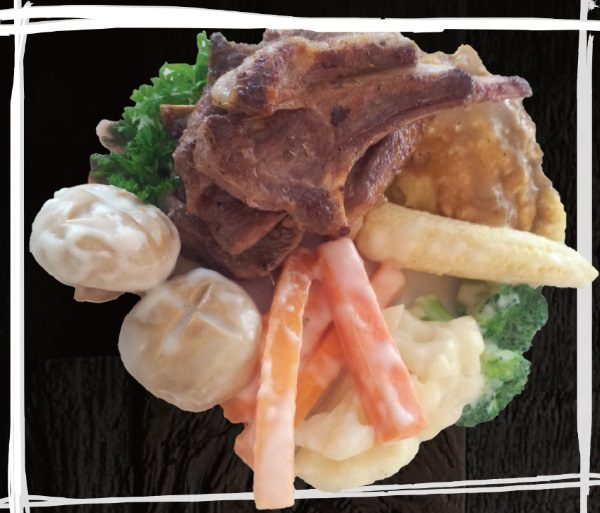 """<span style=""""color: #F6931B;"""">Grilled Lamb Chop</span>"""