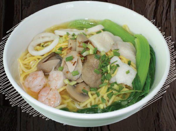 "<span style=""color: #F6931B;"">Seafood Noodles Soup</span>"
